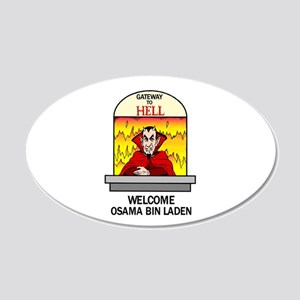 Osama Bin Laden in Hell 22x14 Oval Wall Peel