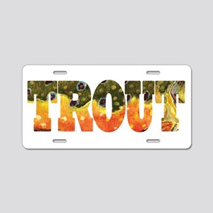 Brook TROUT Aluminum License Plate