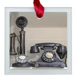 Vintage bakelite candlestick telephone Square Glas