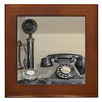 Vintage bakelite candlestick telephone Framed Tile