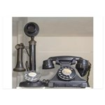 Vintage bakelite candlestick telephone 5x7 Flat Ca