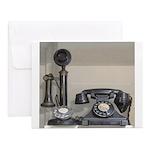 Vintage bakelite candlestick telephone Notecards (