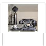 Vintage bakelite candlestick telephone Yard Sign