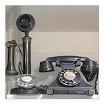 Vintage bakelite candlestick telephone Square Car