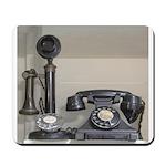 Vintage bakelite candlestick telephone Mousepad