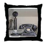 Vintage bakelite candlestick telephone Throw Pillo