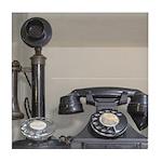 Vintage bakelite candlestick telephone Tile Coaste