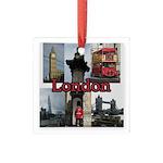London Views Square Glass Ornament