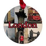 London Views Maple Round Ornament