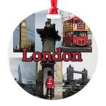 London Views Round Ornament