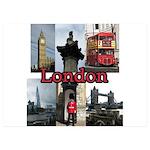 London Views 5x7 Flat Cards (Set of 10)