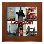 London Views Framed Tile