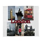 London Views Arctic Fleece Throw Blanket