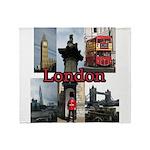London Views Plush Fleece Throw Blanket
