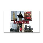 London Views Rectangle Car Magnet