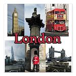 "London Views Square Car Magnet 3"" x 3"""