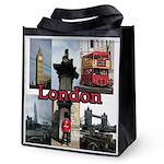 London Views Reusable Grocery Tote Bag