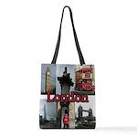 London Views Polyester Tote Bag