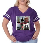 London Views Women's Plus Size Football T-Shirt