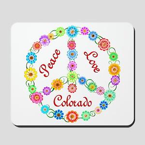 Peace Love Colorado Mousepad