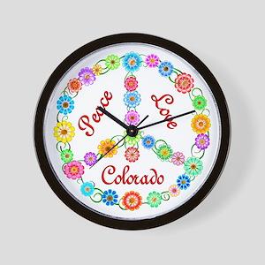 Peace Love Colorado Wall Clock