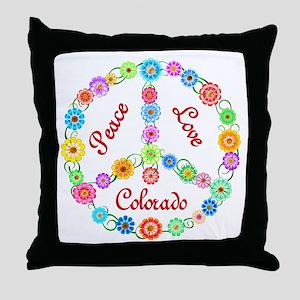 Peace Love Colorado Throw Pillow