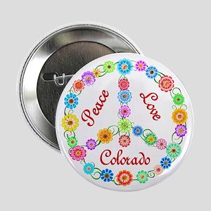 "Peace Love Colorado 2.25"" Button"