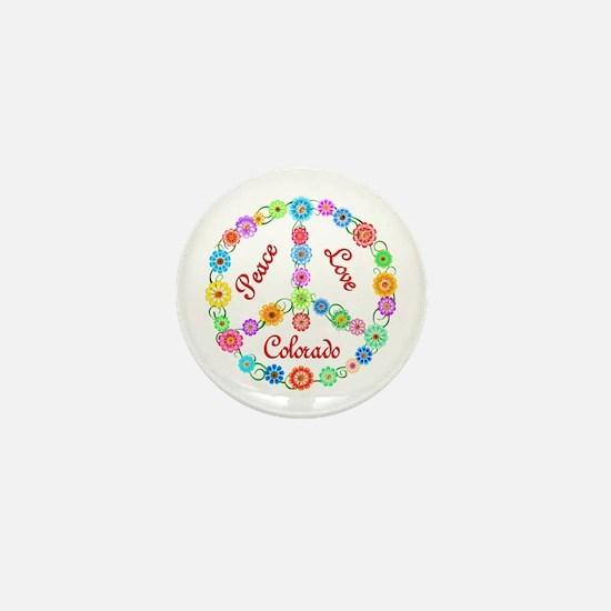 Peace Love Colorado Mini Button