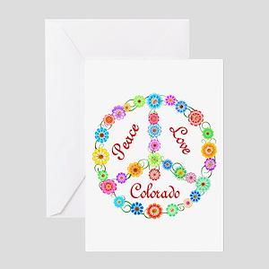 Peace Love Colorado Greeting Card