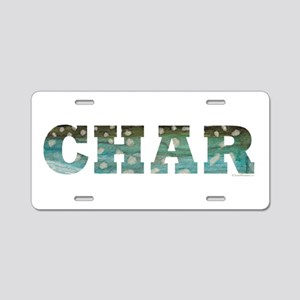 CHAR Word Aluminum License Plate