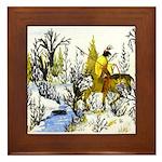 Native American Winter Warrior Framed Tile