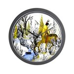 Native American Winter Warrior Wall Clock