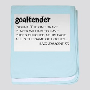 Goaltender baby blanket
