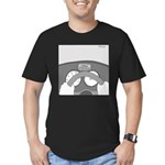Check Pancreas (no text) Men's Fitted T-Shirt (dar