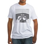 Check Pancreas (no text) Fitted T-Shirt