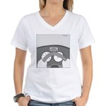 Check Pancreas (no text) Women's V-Neck T-Shirt