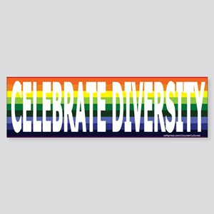 Celebrate Diversity! Bumper Sticker