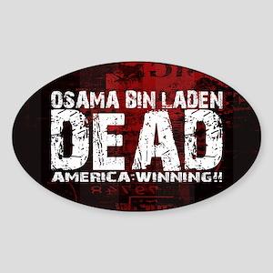 Osama Dead Sticker (Oval)