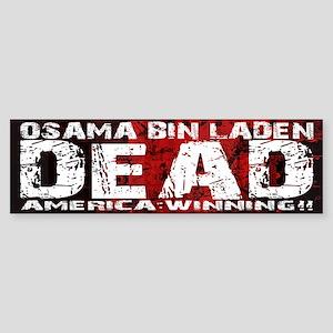 Osama Dead Sticker (Bumper)