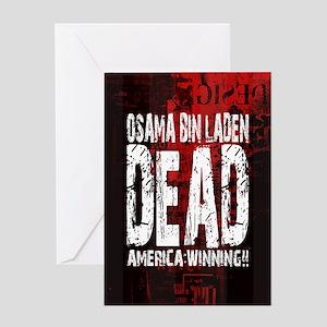Osama Dead Greeting Card