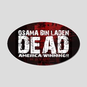 Osama Dead 22x14 Oval Wall Peel