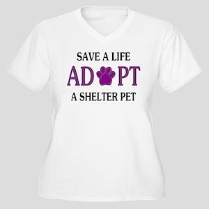 Save A Life Women's Plus Size V-Neck T-Shirt