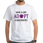 Save A Life White T-Shirt