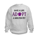 Save A Life Kids Sweatshirt