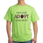 Save A Life Green T-Shirt