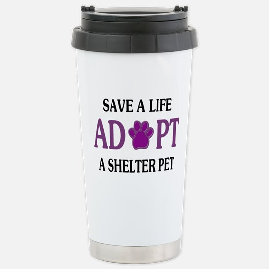 Save A Life Stainless Steel Travel Mug