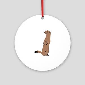 Ermine - Weasel Ornament (Round)