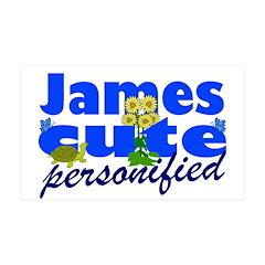 Cute James 38.5 x 24.5 Wall Peel