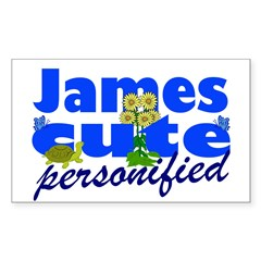 Cute James Sticker (Rectangle)