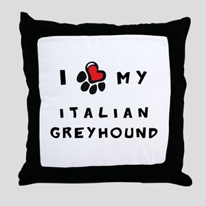 I *heart* My Italian Greyhoun Throw Pillow